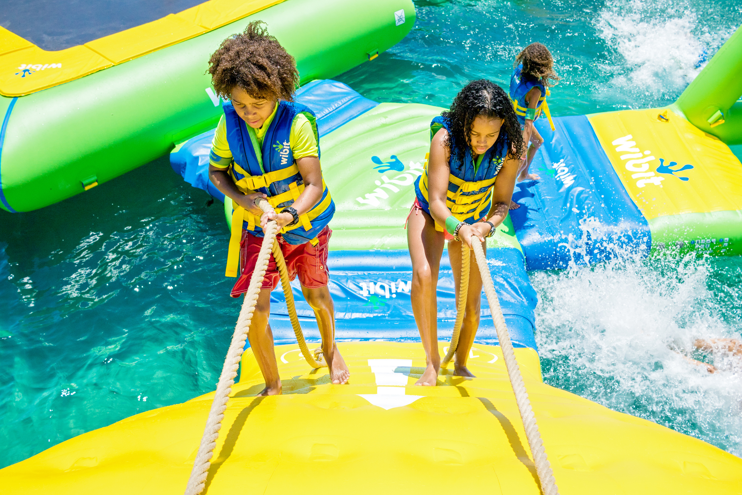 The Action Tower at Splash Island Water Park St. Lucia