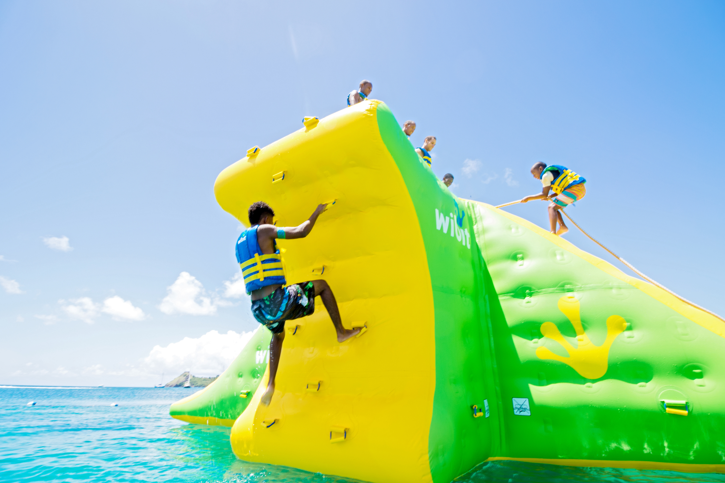 Action Tower XXL Splash Island Water Park St. Lucia