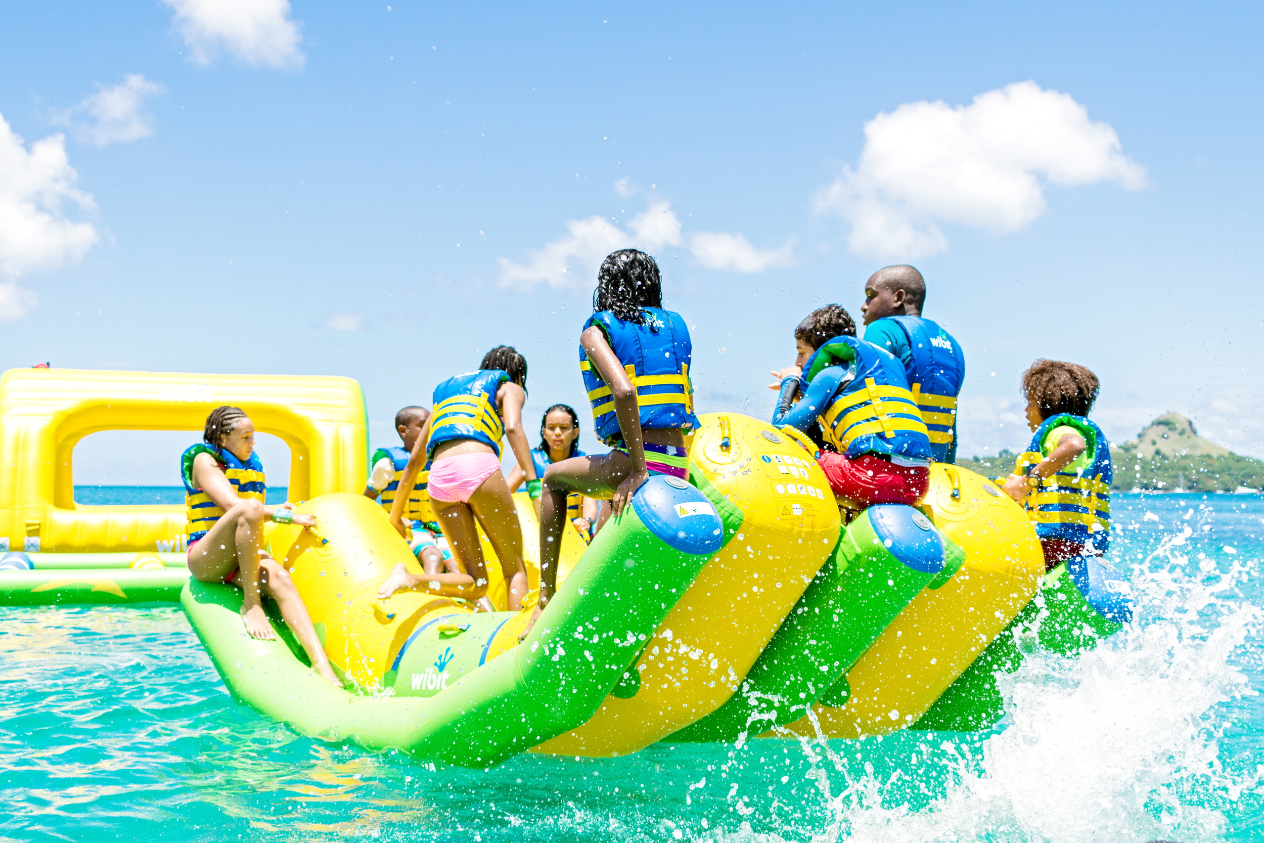 Double Rocker Splash Island Water Park St. Lucia