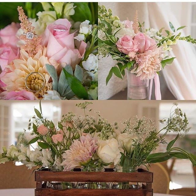 Sweet blushes and creams. Thanks for photos @thepuritandream ! #utahflorist