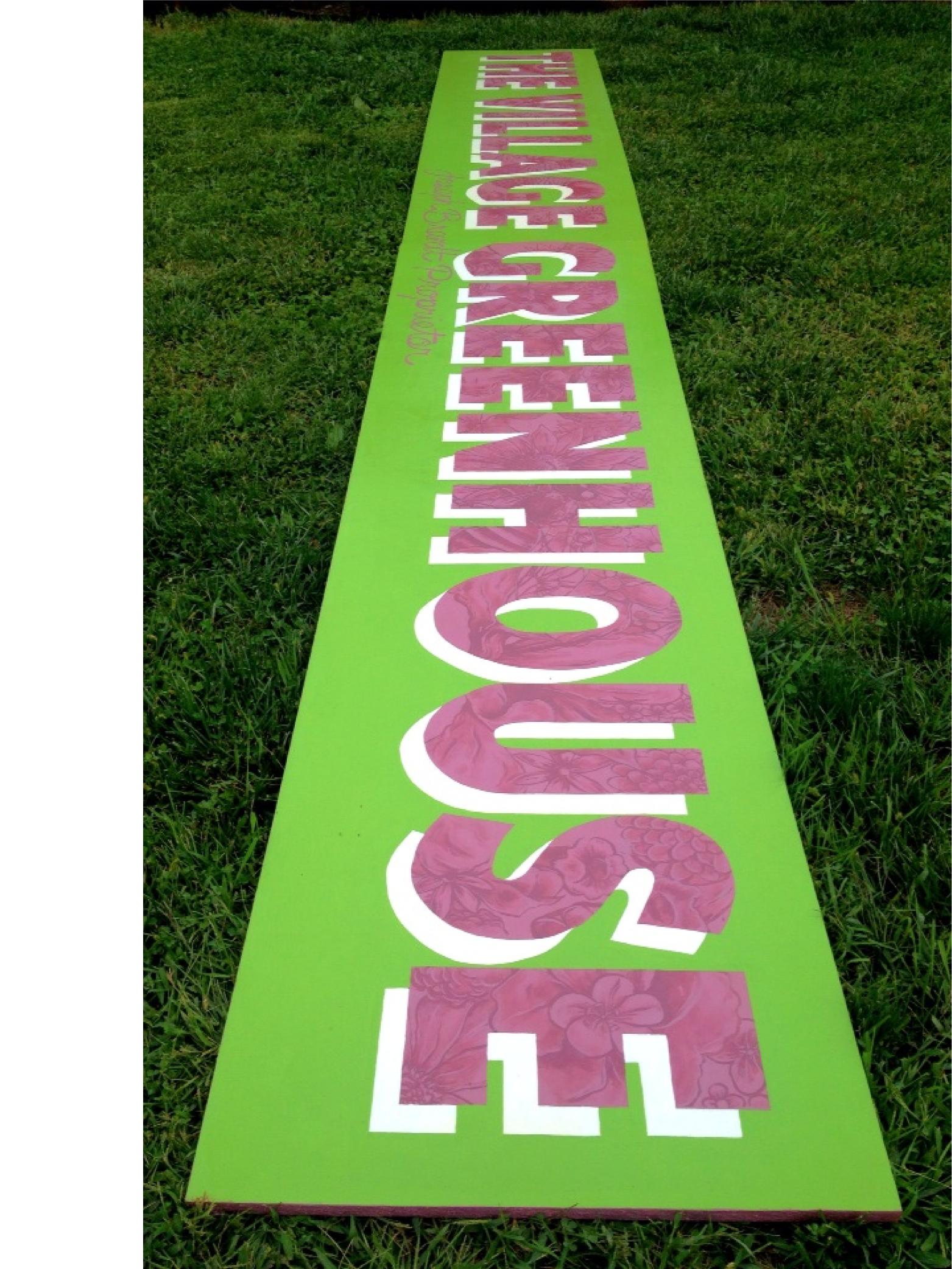 Village Greenhouse sign.