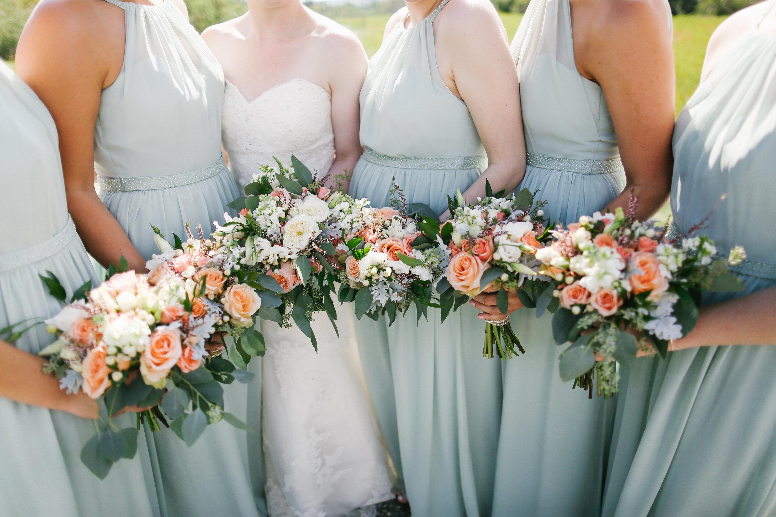 bridal party wedding flowers custom
