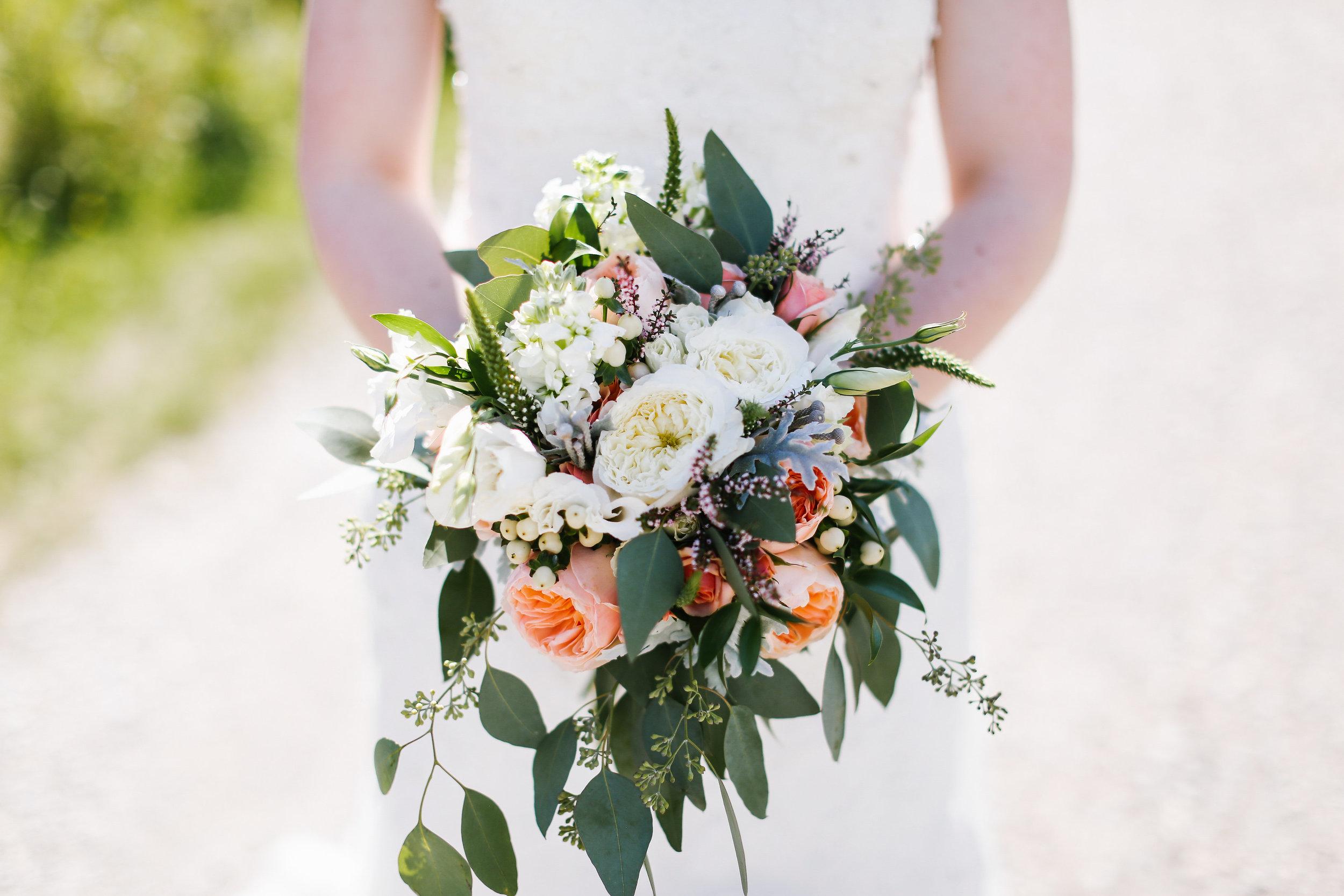 wedding bouquet calgary close up