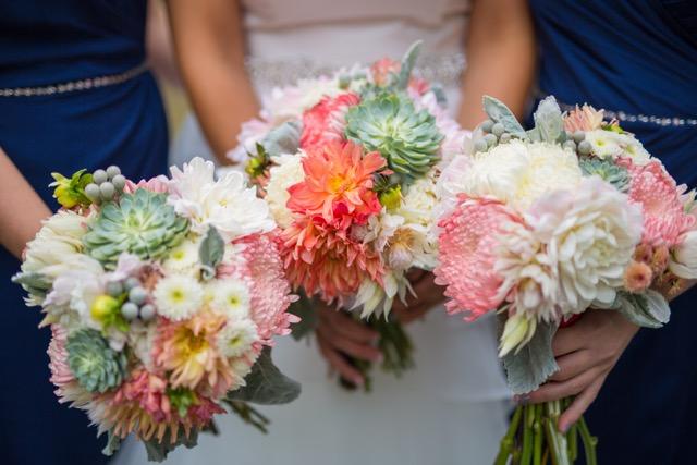 succulent wedding bouquet calgary