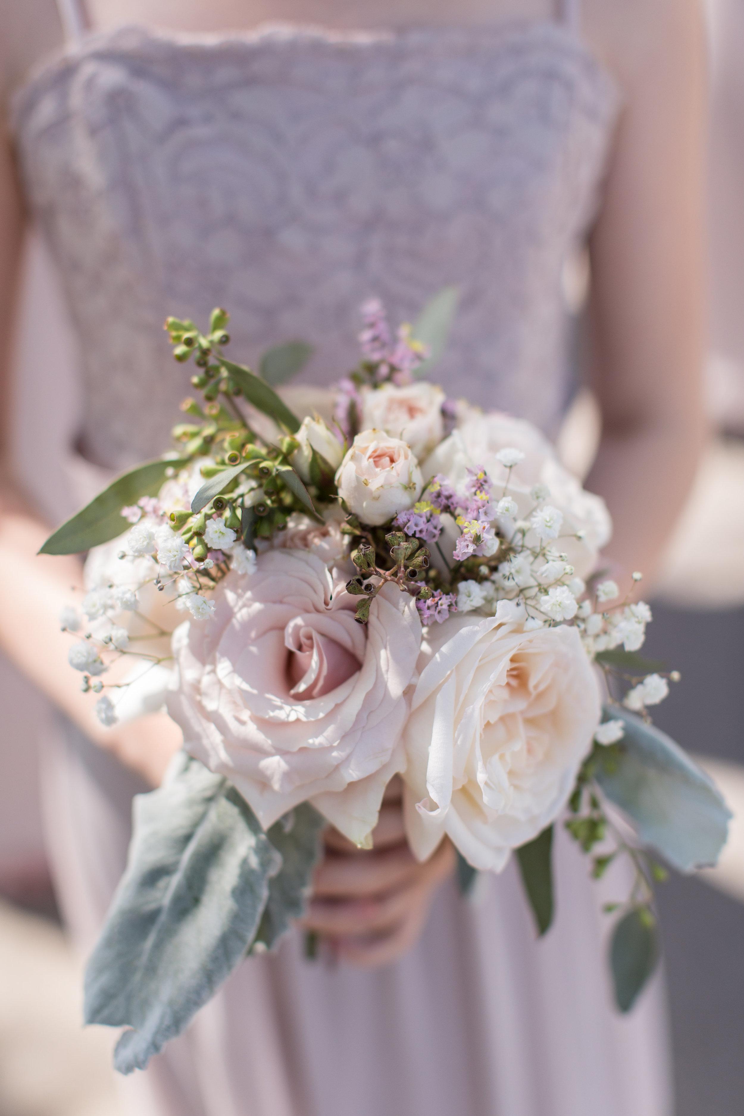 flower girl wedding bouquet made in calgary