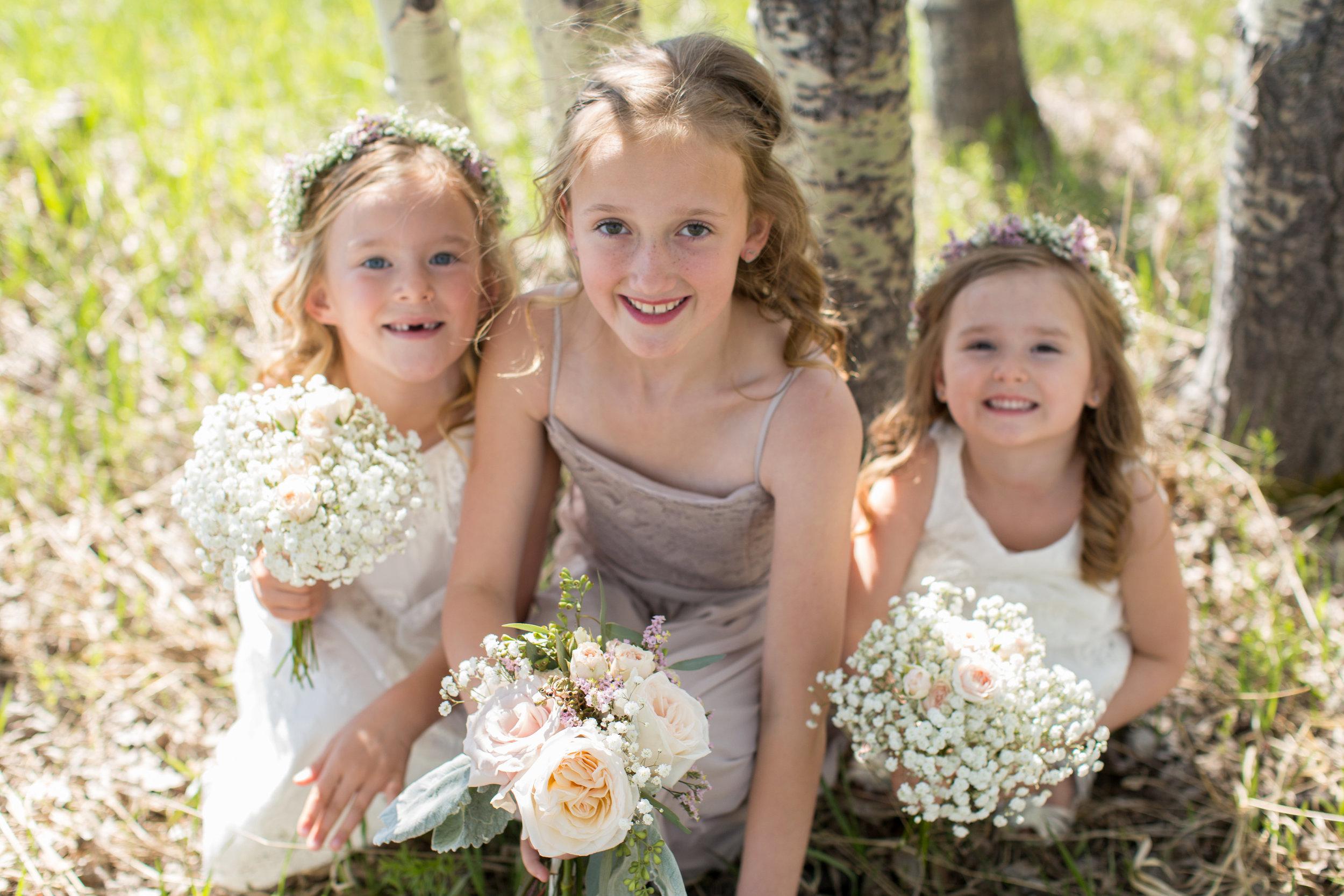 flower girl wedding flowers from calgary, alberta