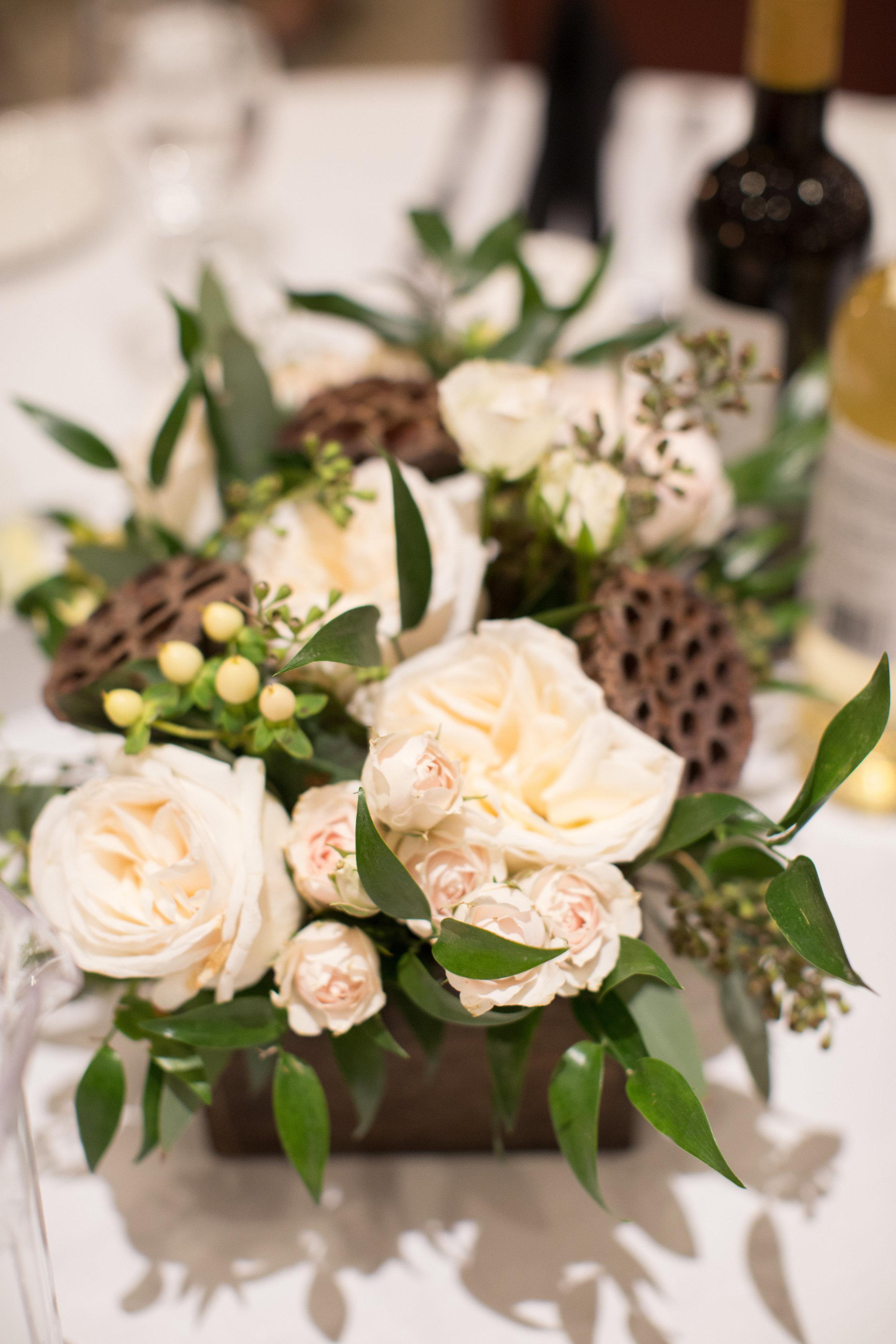 wedding flower centrepieces from florist in cochrane