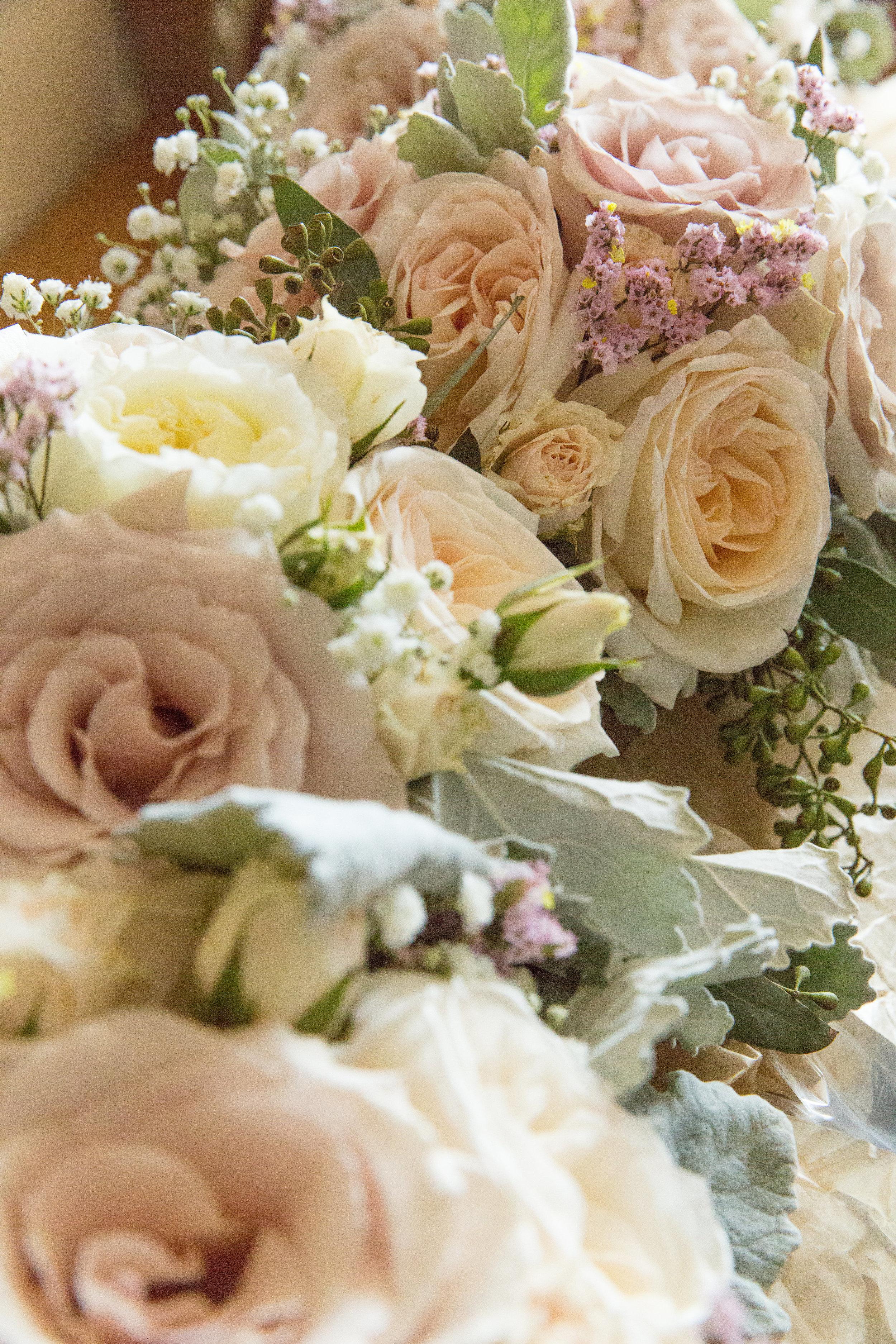 calgary custom wedding flowers for bride and bridesmaids