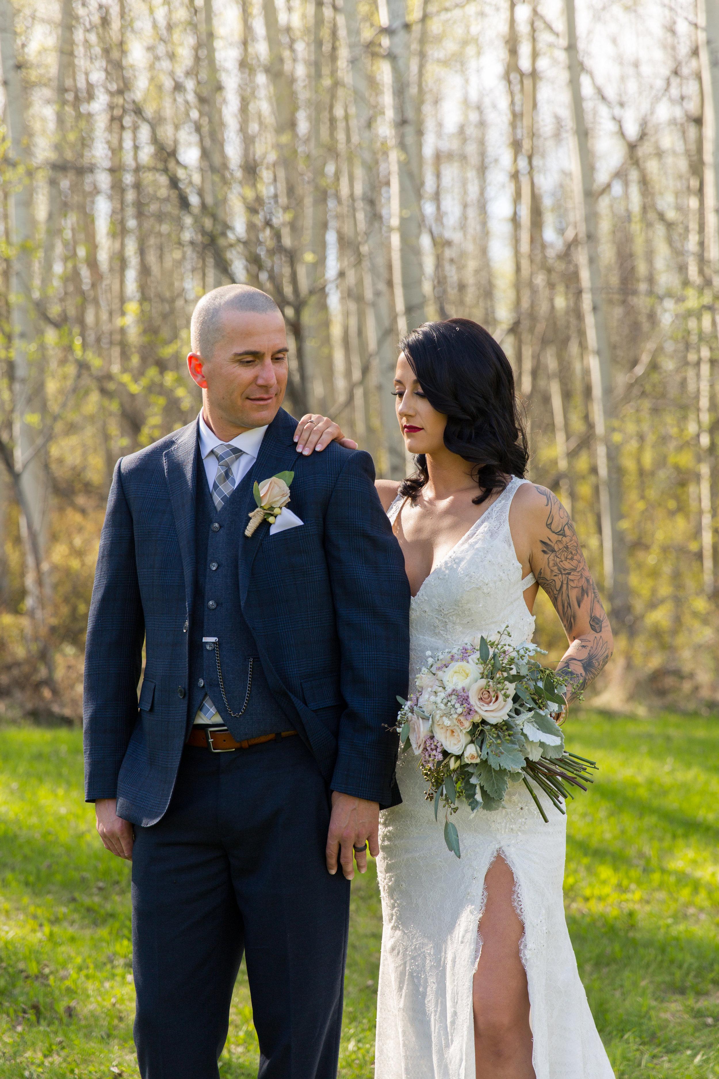 natural wedding flowers made custom in calgary, alberta