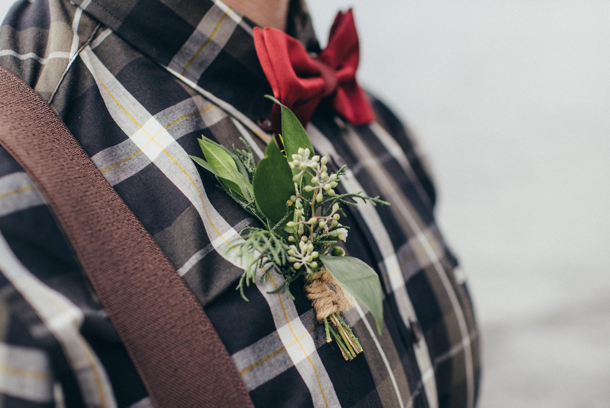 custom wedding boutonniere from calgary wedding flower services