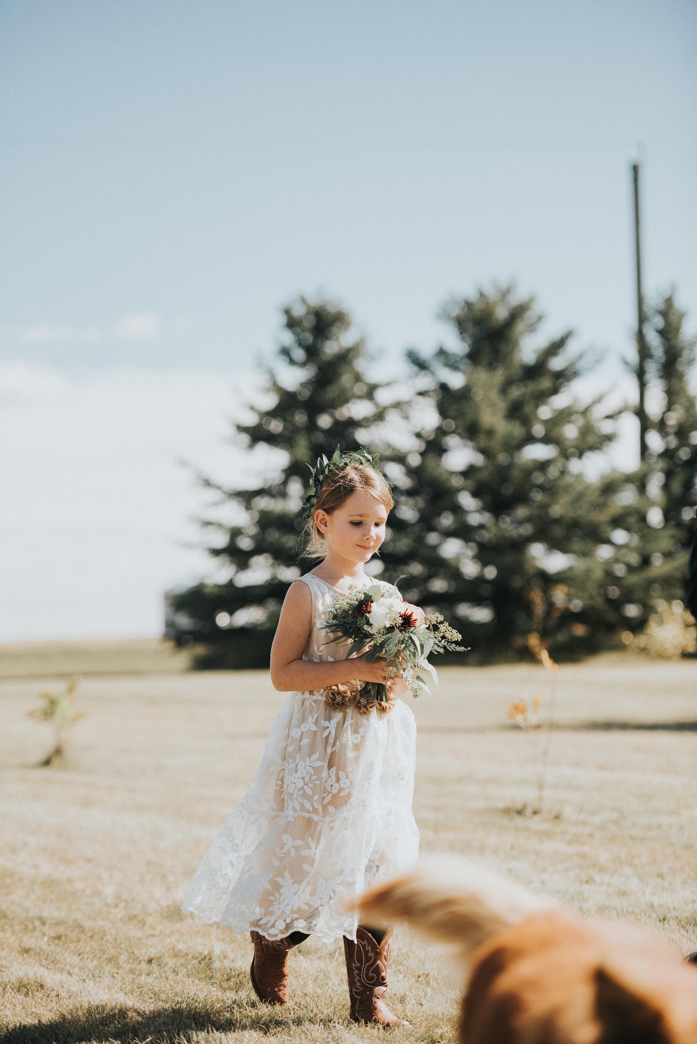 flower girl wreath or crown flowers for calgary weddings