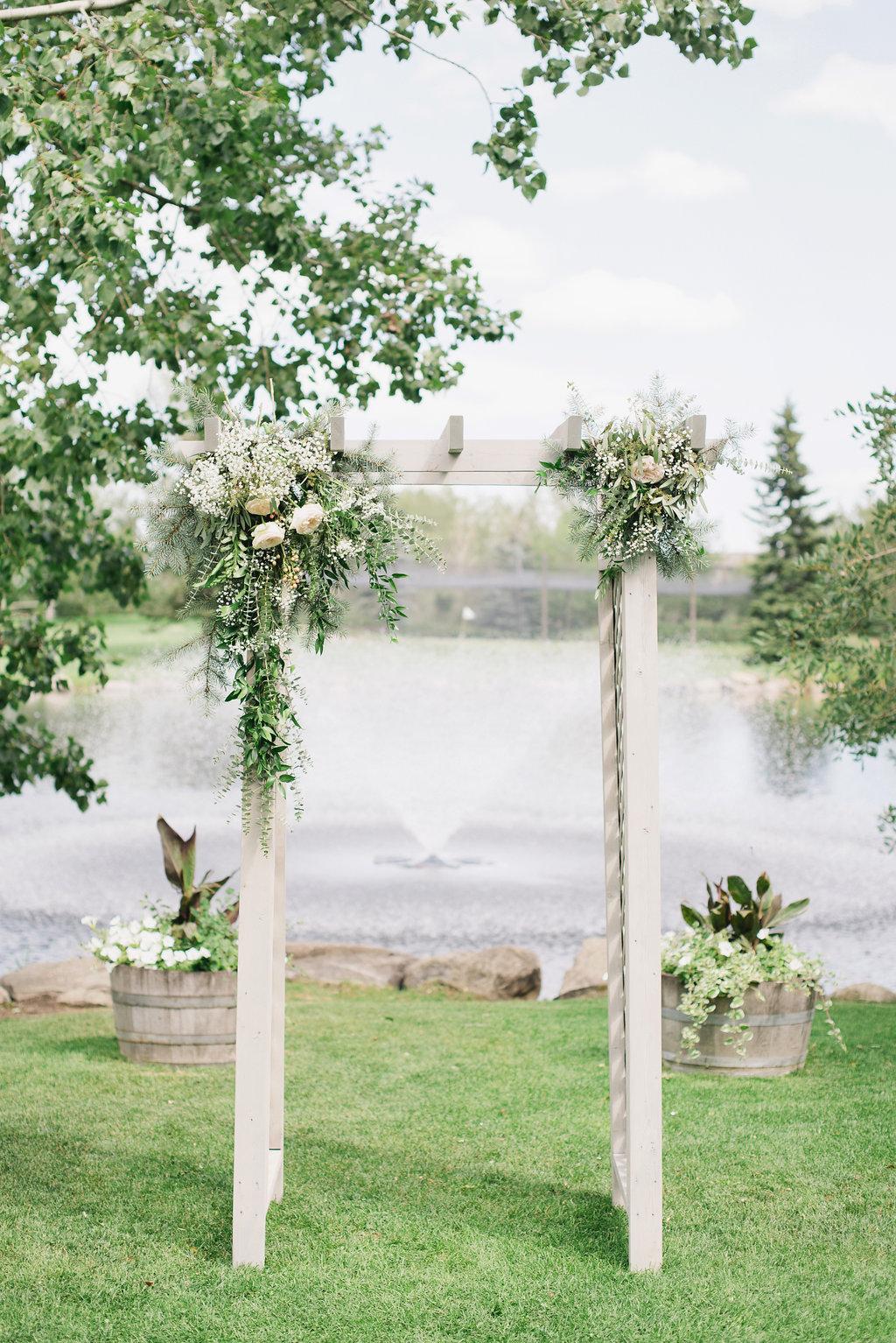 wedding arch flowers in calgary, alberta