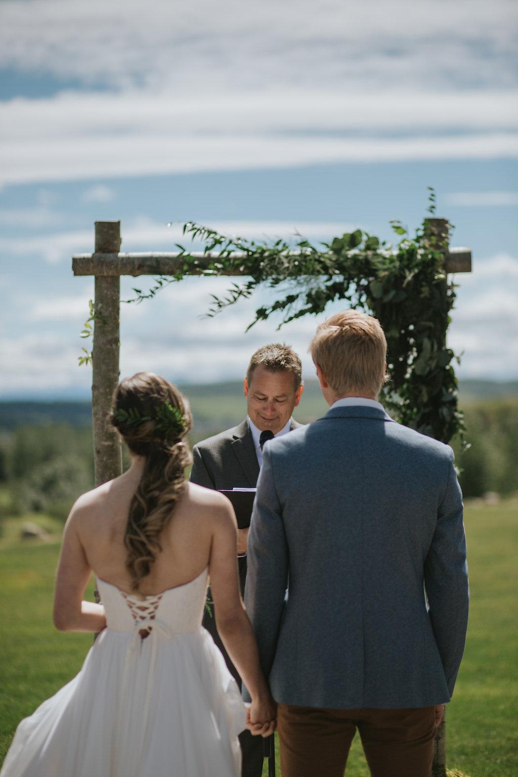 wedding arch and bridal flowers based in cochrane, alberta