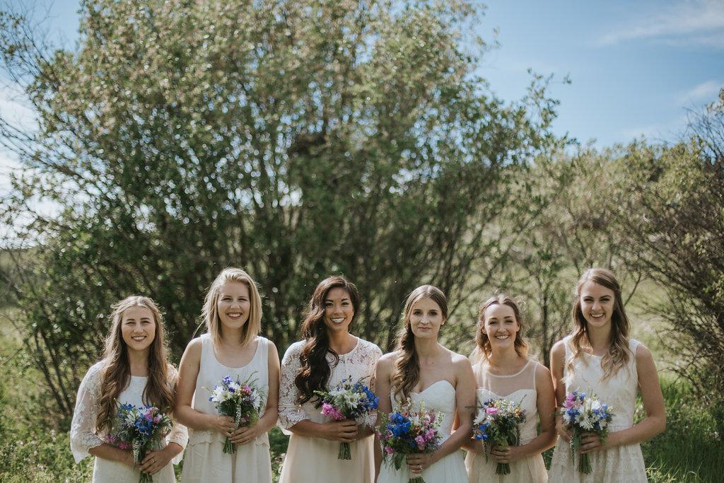 bridesmaid flowers for rustic cochrane wedding