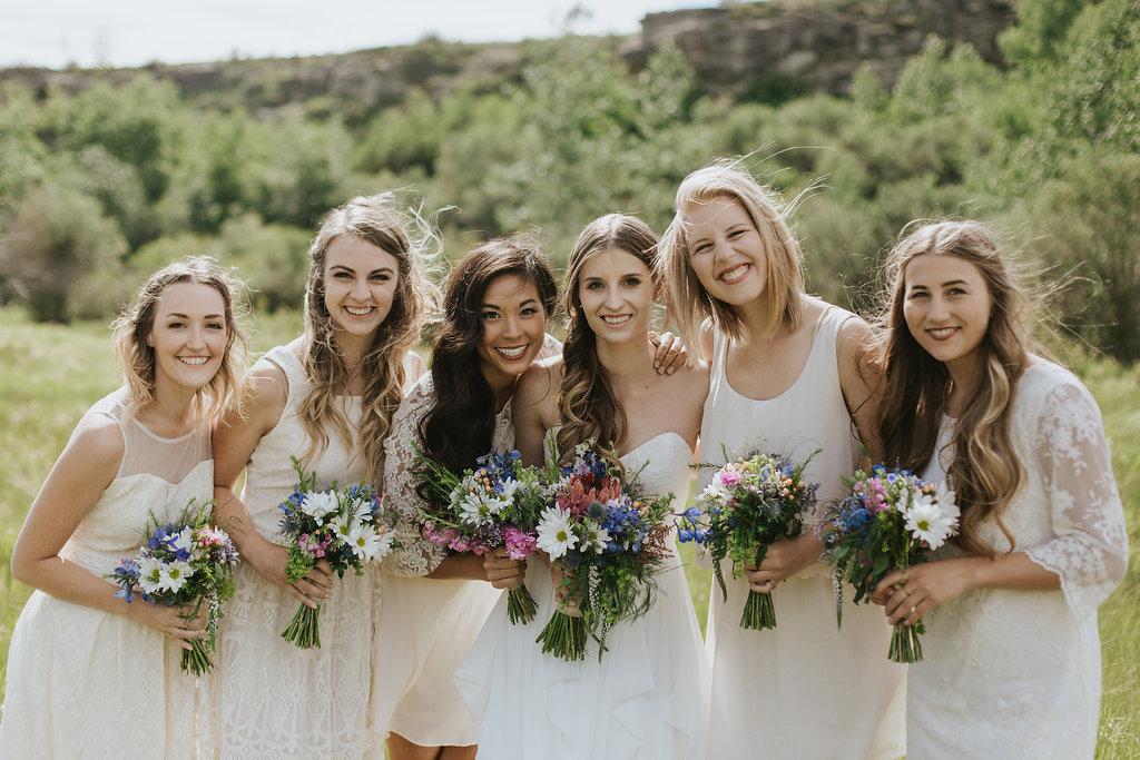 bridesmaid rustic wedding flowers based in calgary, alberta