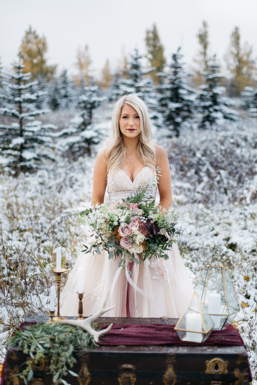 rustic wedding flowers from alberta wedding florist