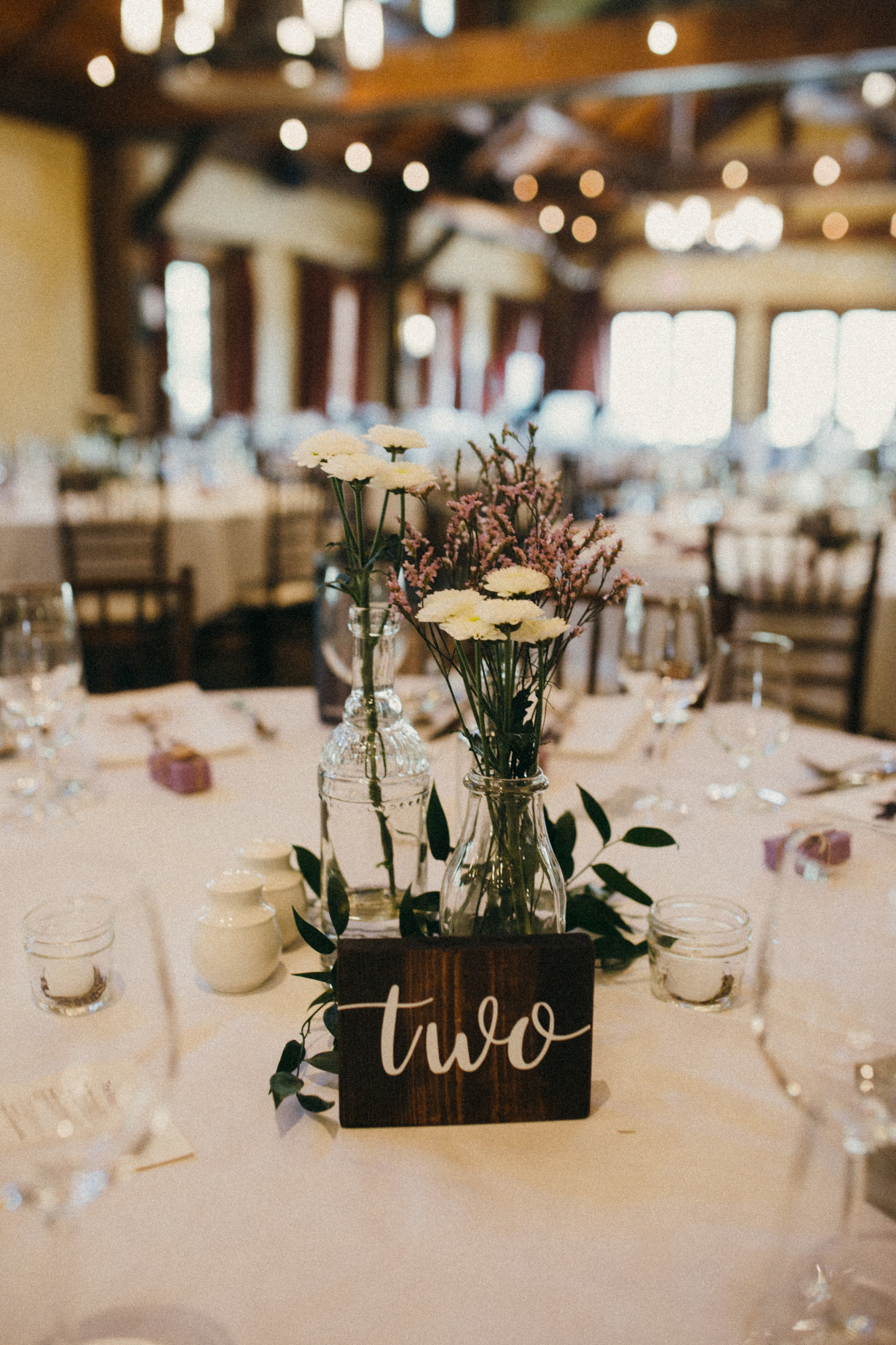 wedding floral centrepieces in canmore, alberta