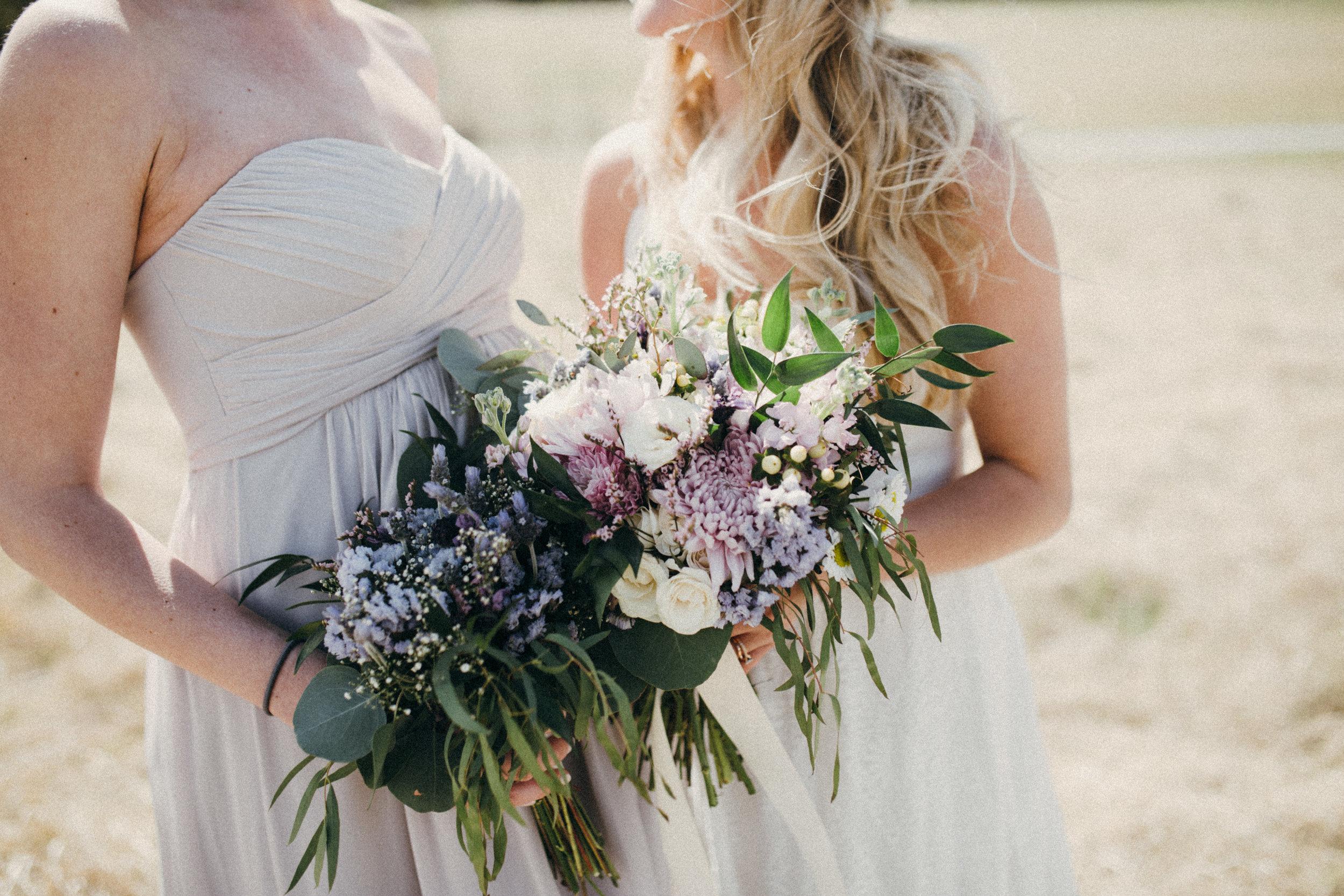 natural and whimsical bridal and bridesmaid bouquets in calgary alberta