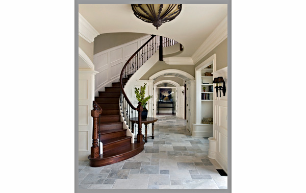 Remodeling project. Selection of flooring, color coordination, lighting, moldings and other materials.