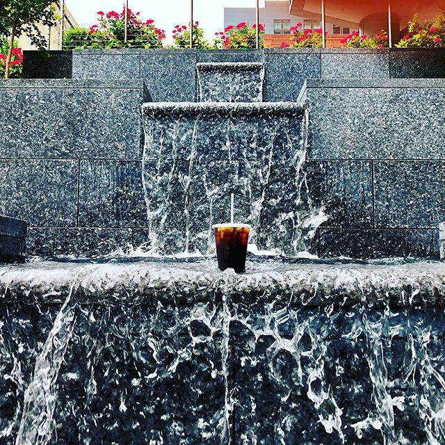 Bourbon's Cold Brew is making a big splash. Drink this and you'll feel like you're standing under a waterfall 😊 #bourboncoffee #beattheheat #bourbonrising