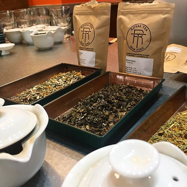 Thank you to @royalteanewyork for coming to do a tasting with us this weekend! You can find their teas at our Foggy Bottom and new Greensboro locations today! . . #bourboncoffee #dc #teatasting #royaltea #royalteany