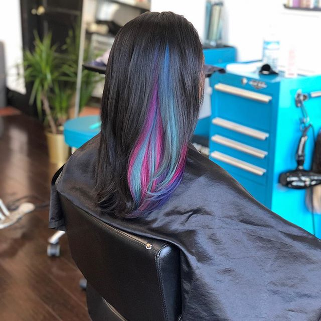 Fantasy hair by me & @kayscosmo 🌈💗💜💙 #acutecollective