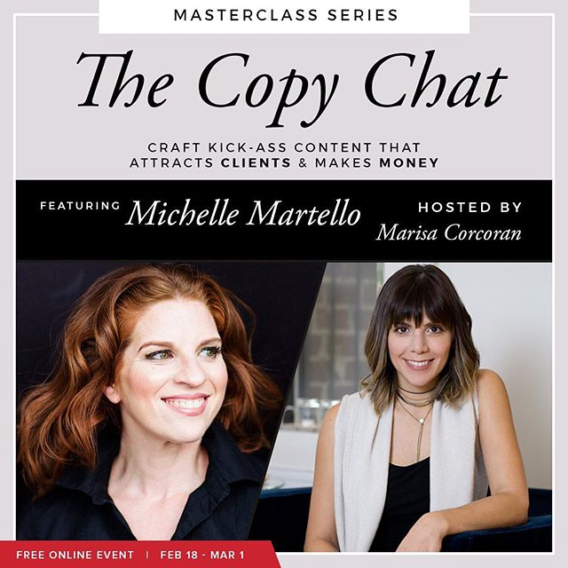 💥What You Need To Know About The Marriage Of Copy + Design💥 . Ever work on your website copy, course content, or freebie and then have ZERO idea how to communicate how you want it to look?.. . Meet Michelle Martello of @minimadesigns - she's gonna tell you everything you need to know... . 👉FREE access at link in bio @mtoni 👈... . 📌The questions you MUST ask your designer... 📌How to expand copy + content you already have into products. (✋ passive income!)... 📌Michelle's GUAC METRIC to measure success.. . Anddddd today Michelle's friend Meg Clarke of @clappingdogmedia is giving us her SEO GENIUS... . Here's a peek... . 👏Why SEO is your friend + way easier than you think... 👏Awesome tips for creating effective blog categories + meta descriptions... 👏How to write like a normal person and still rank high... 👏SEO checklist to map out your content with headlines and the right keywords... . Us M gals are not playing games today...join us! | #TheCopyChat