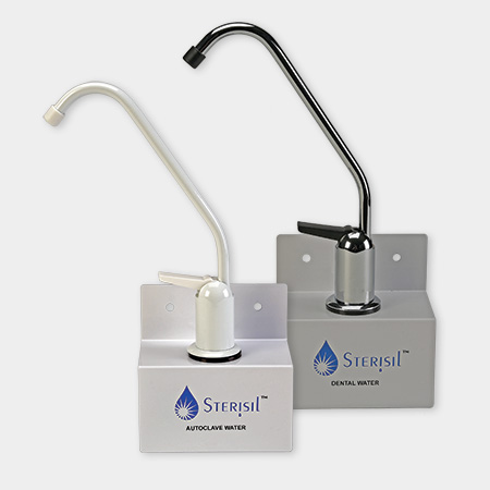 Dispensing faucets with LED monitoring lights