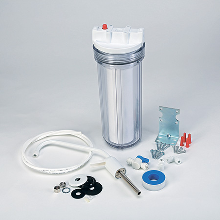 PreFilter Kit is installed to reduce source water hardness (250 TDS ppm or more)