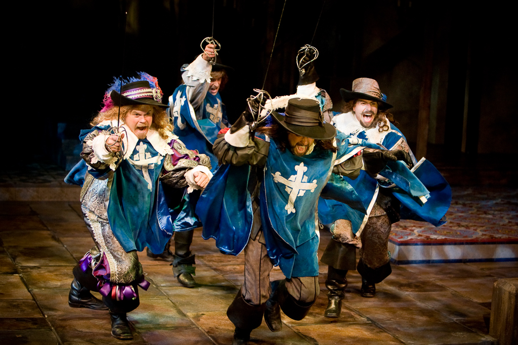 Cast of THE THREE MUSKETEERS at the Denver Center Theatre Company. Production Photographer Jennifer Koskinen | Merritt Portrait Studio