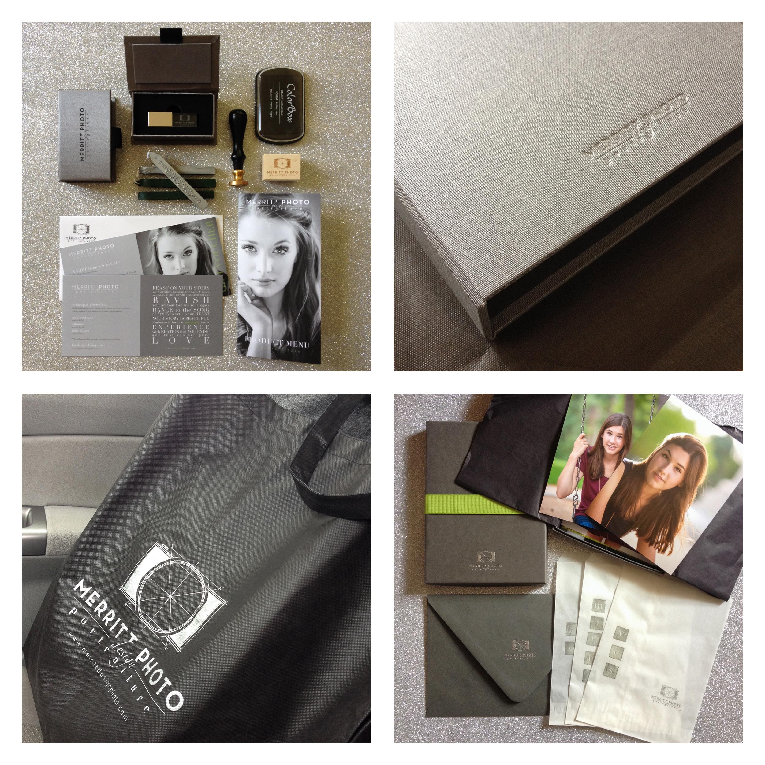 merritt portait studio   branding product design