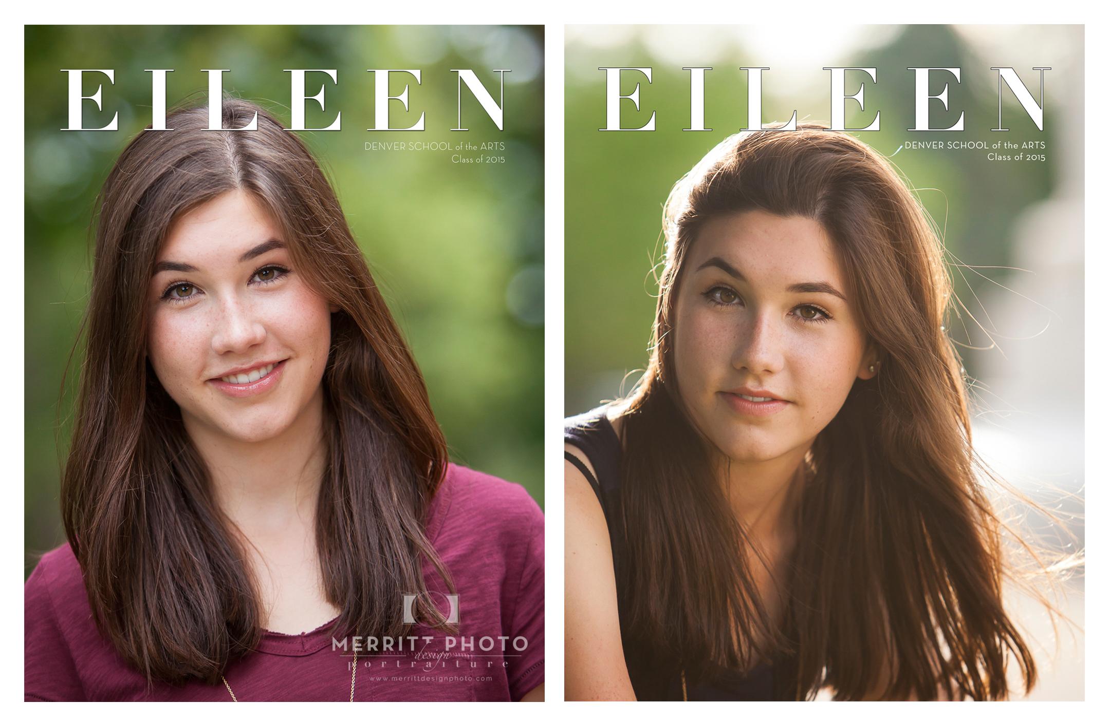 Custom Senior Photo Session Magazine | Merritt Portrait Studio Denver