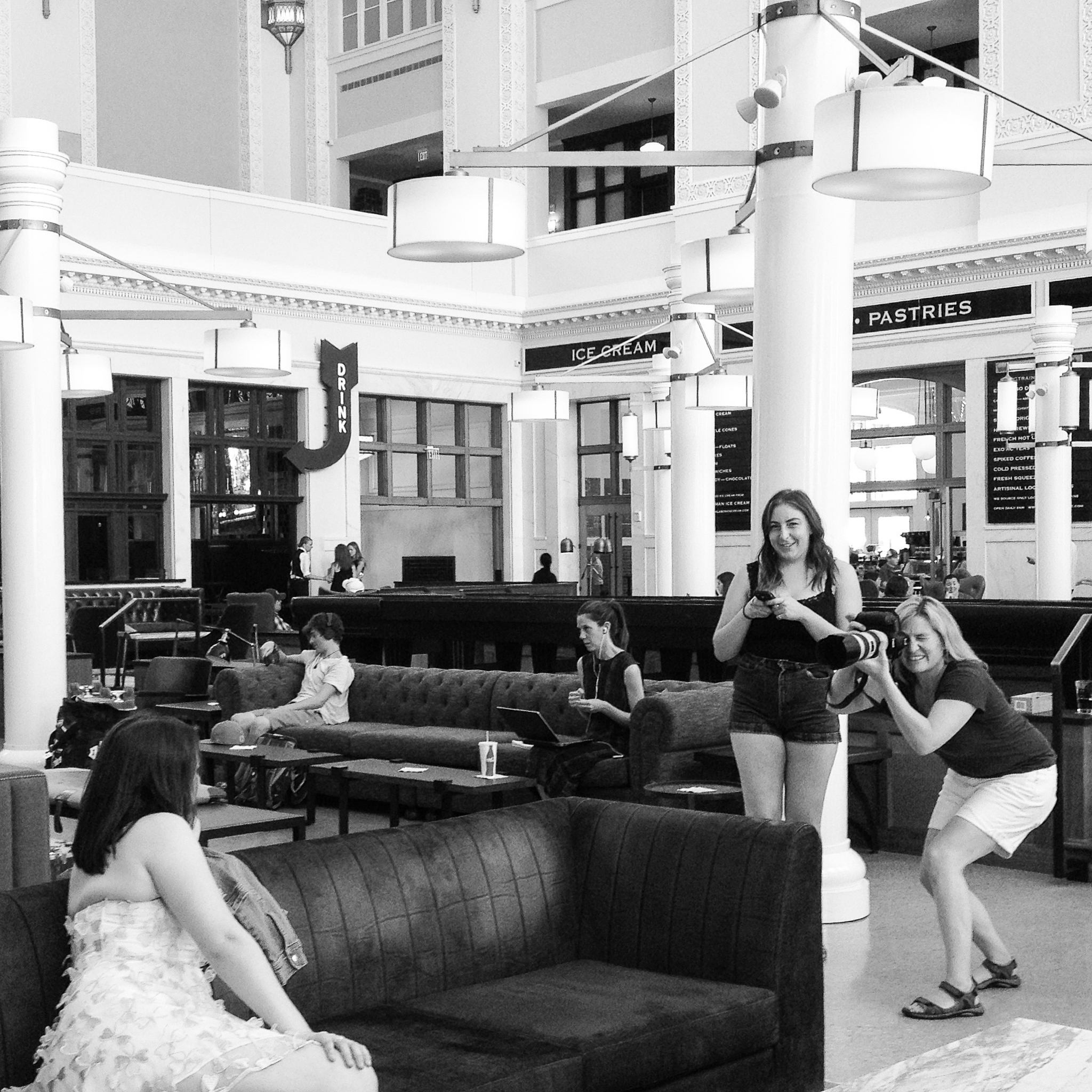 Behind the Scenes | Senior Photos at Union Station | Merritt Portrait Studio Denver
