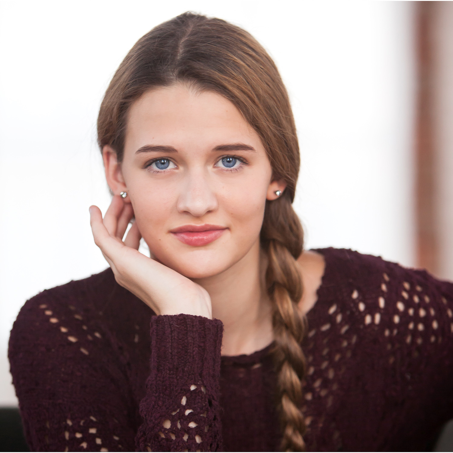 high school senior photo session at urban studio in denver | photographer jennifer koskinen | merritt portrait studio