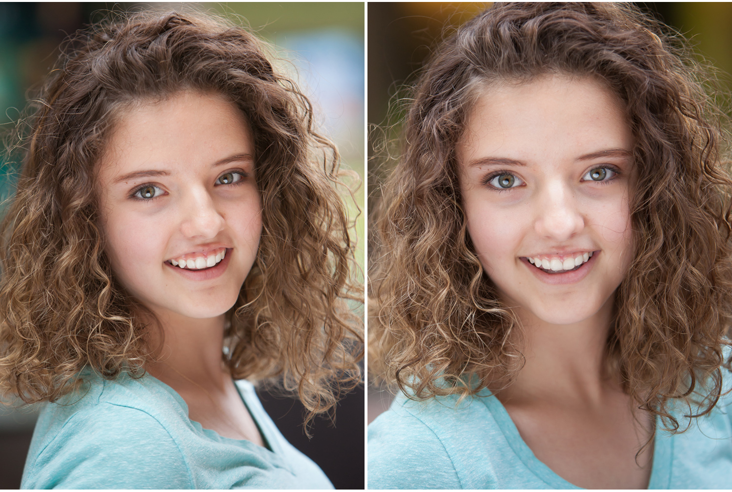 Children's natural light actor headshots in Denver with photographer Jennifer Koskinen, Merritt Portrait Studio