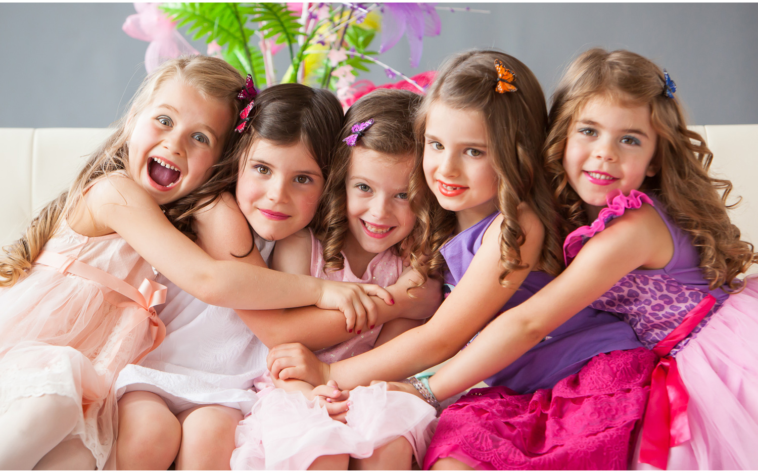 Cuteness Overload! Fancy Nancy themed Girls' Portrait Party in Denver with photographer Jennifer Koskinen, Merritt Portrait Studio