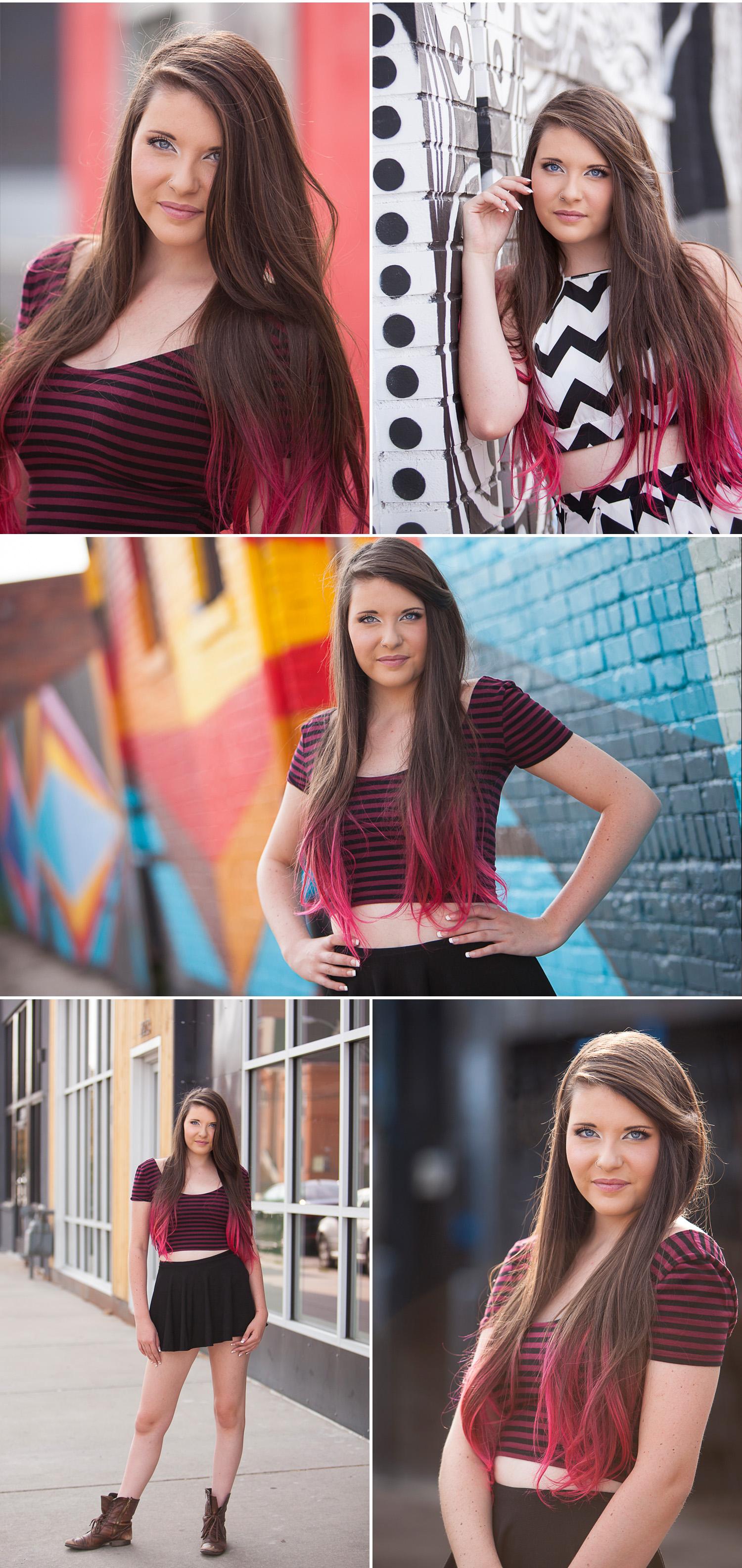 Senior Pictures in Denver with Graffiti