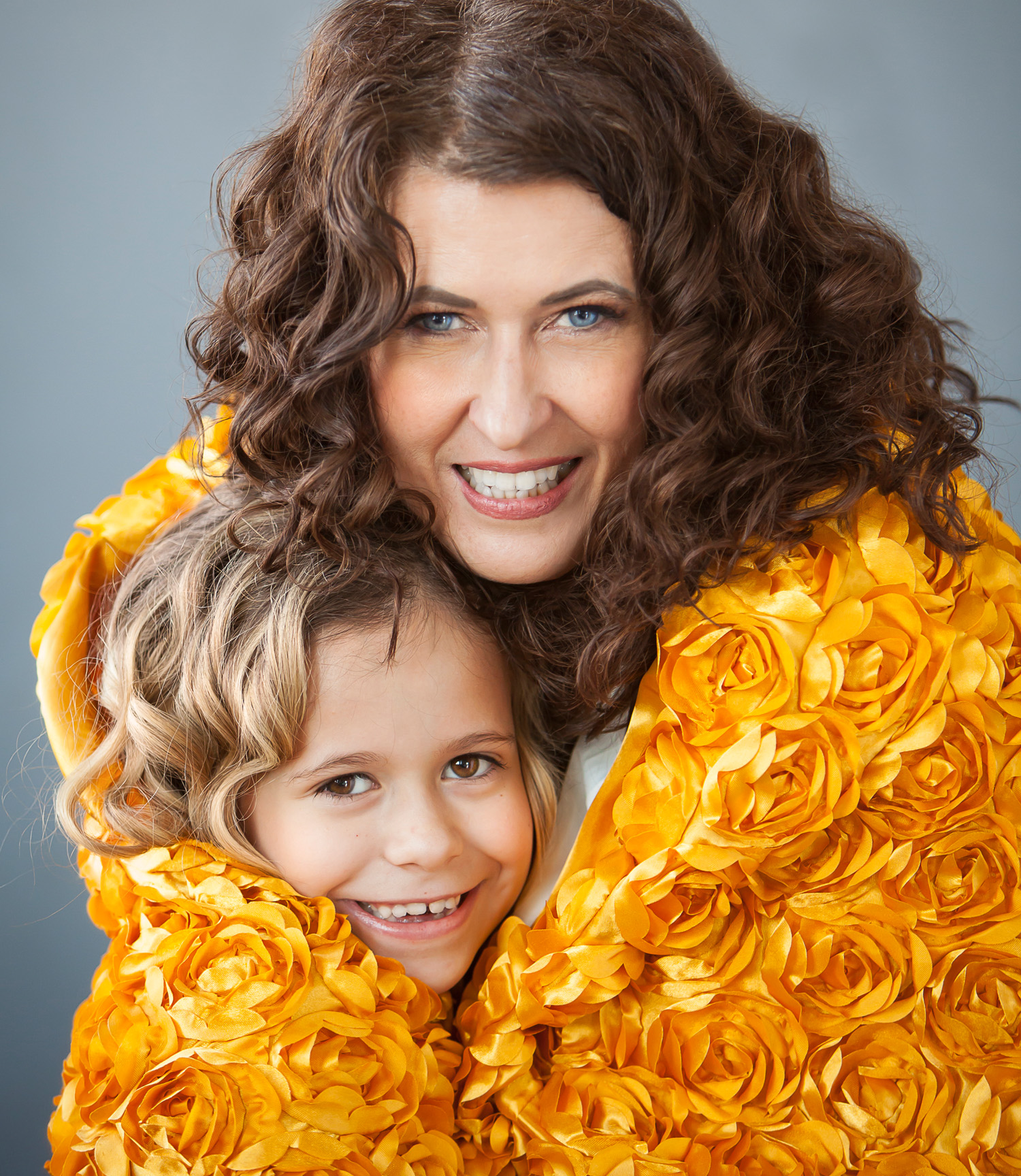 fun mother daughter portrait in denver