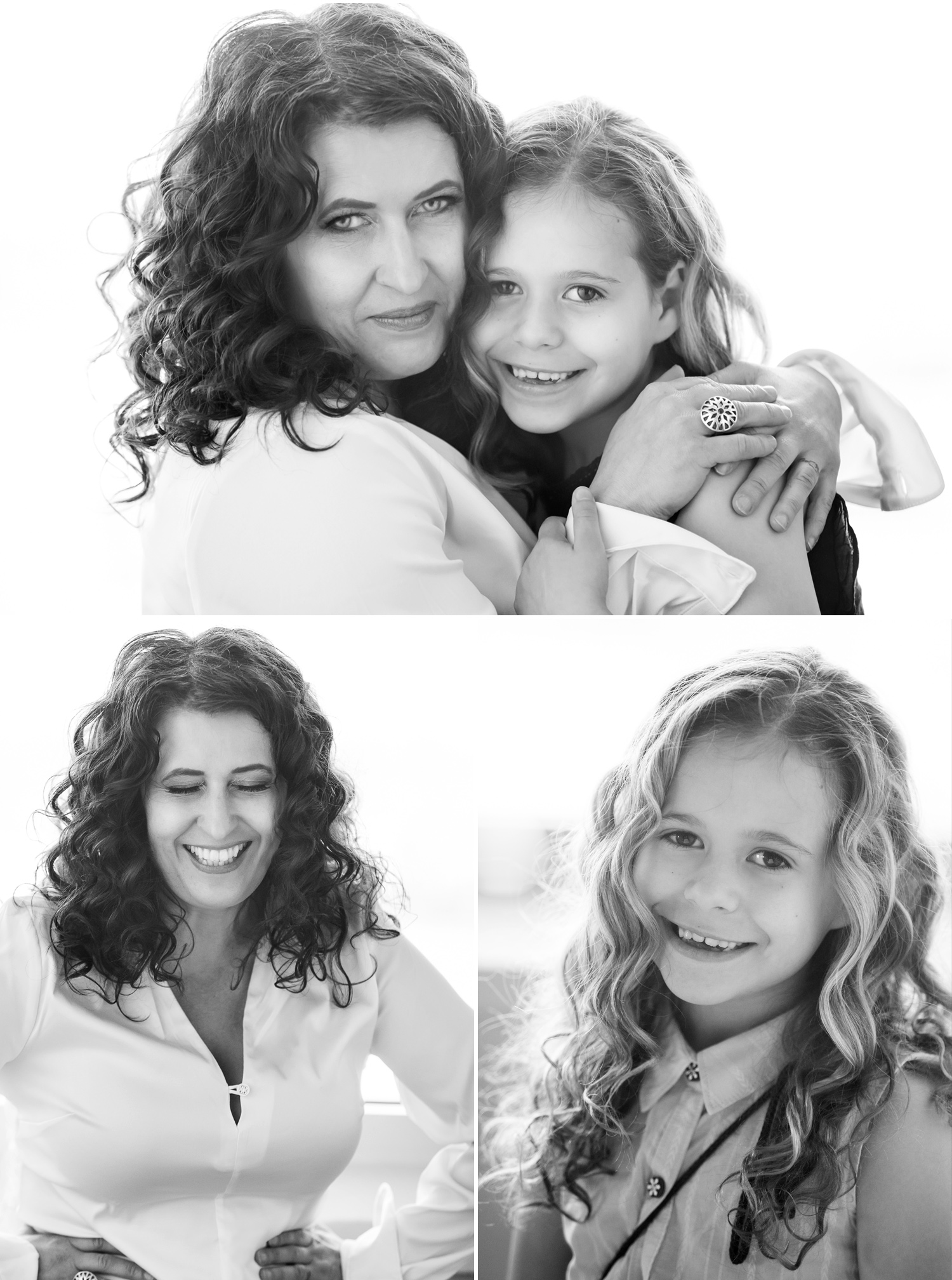 Backlit, luminous mother daughter pictures by Denver photographer Jennifer Koskinen, Merritt Portrait Studio