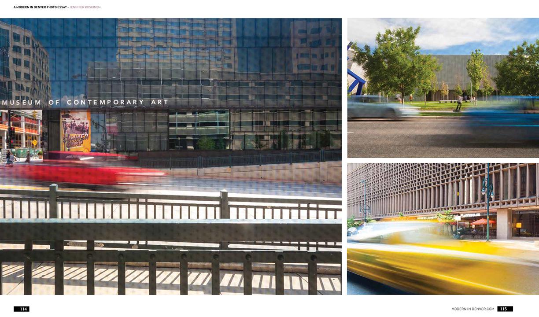 Daytime long exposure photography for Modern in Denver magazine, by photographer Jennifer Koskinen