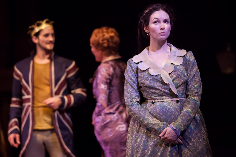 Jenna Bainbridge in HENRY V at The Colorado Shakespeare Festival, photo by Jennifer Koskinen, Merritt Design Photo