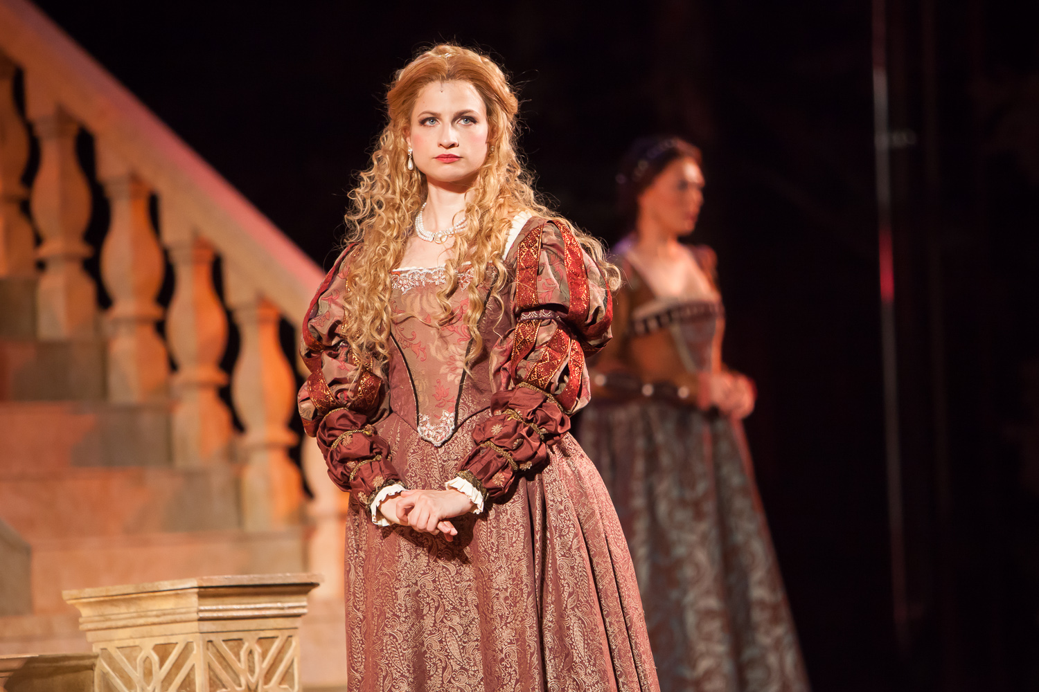 Laura Baranik in OTHELLO at The Colorado Shakespeare Festival, photo by Jennifer Koskinen, Merritt Design Photo