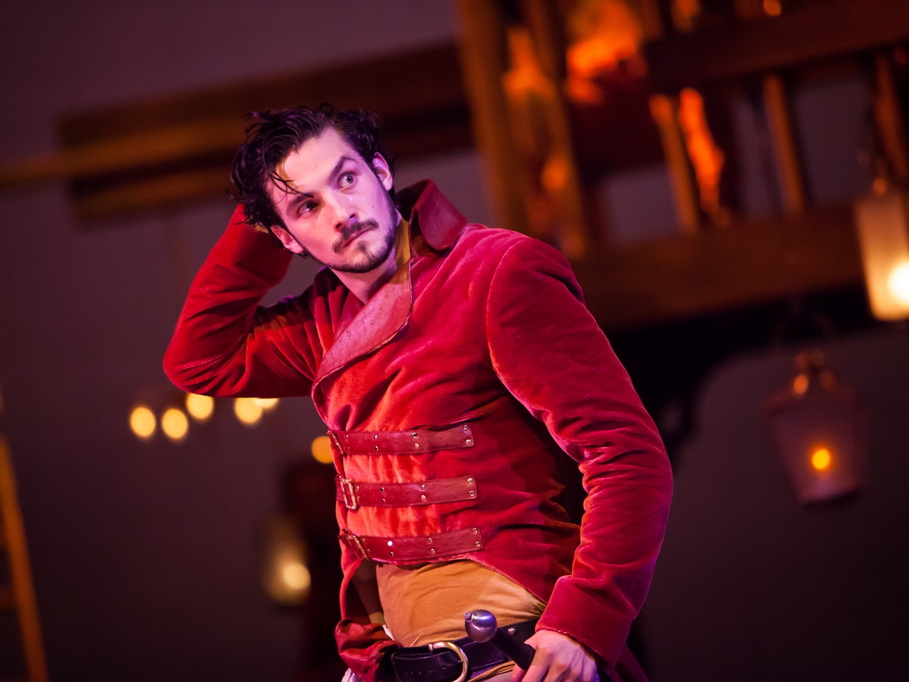 Benjamin Bonenfant in HENRY V at The Colorado Shakespeare Festival, photo by Jennifer Koskinen, Merritt Design Photo