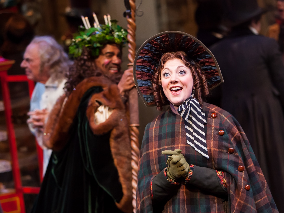 Kyra Lindsay Wedell in A CHRISTMAS CAROL at the Denver Center Theatre Company, photo by Jennifer Koskinen, Merritt Design Photo