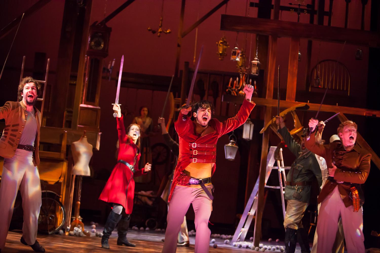 """Once more unto the breach... "" HENRY V at the Colorado Shakespeare Festival, photo by Jennifer Koskinen, Merritt Design Photo"