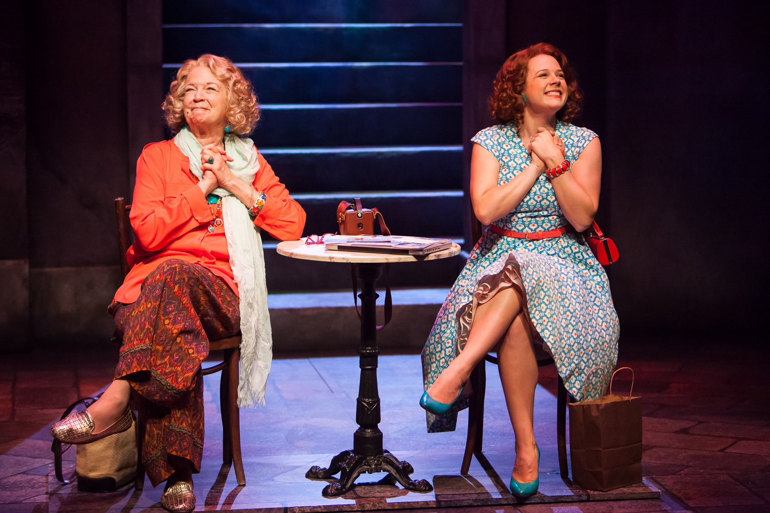 Darrie Lawrence and Lenne Klingaman in the World Premiere of APPOGIATTURA at Denver Center Theatre Company, photo by Jennifer Koskinen, Merritt Design Photo