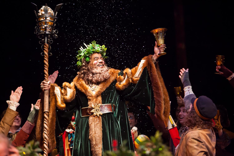 CHEERS!! Leonard E Barret, Jr is the Ghost of Christmas Present in A CHRISTMAS CAROL at the Denver Center Theatre Company. Photo: Jennifer Koskinen | Merritt Design Photo