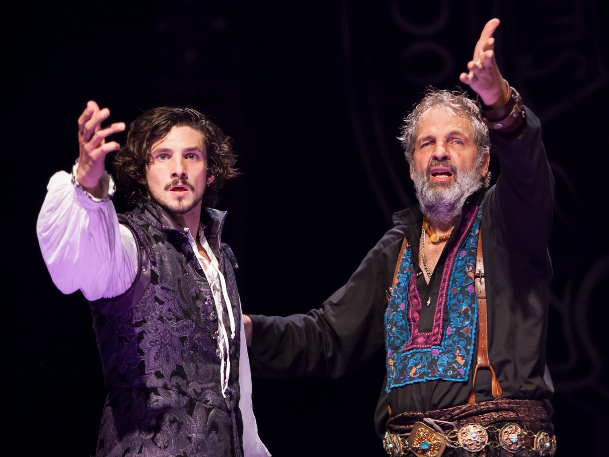 Benjamin Bonenfant and Lawrence Hecht in WITTENBERG at The Colorado Shakespeare Festival, photo by Jennifer Koskinen, Merritt Design Photo