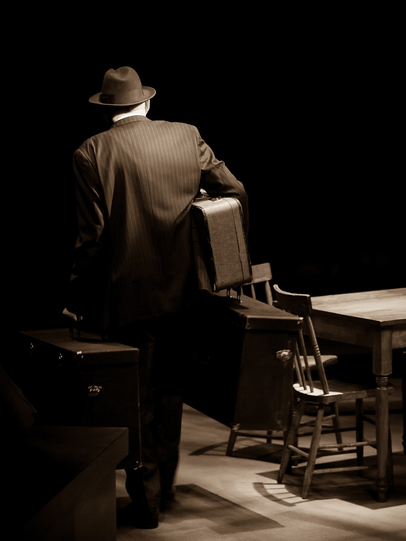 Mike Harman in DEATH OF A SALESMAN at the Denver Center Theatre Company, photo by Jennifer Koskinen, Merritt Design Photo