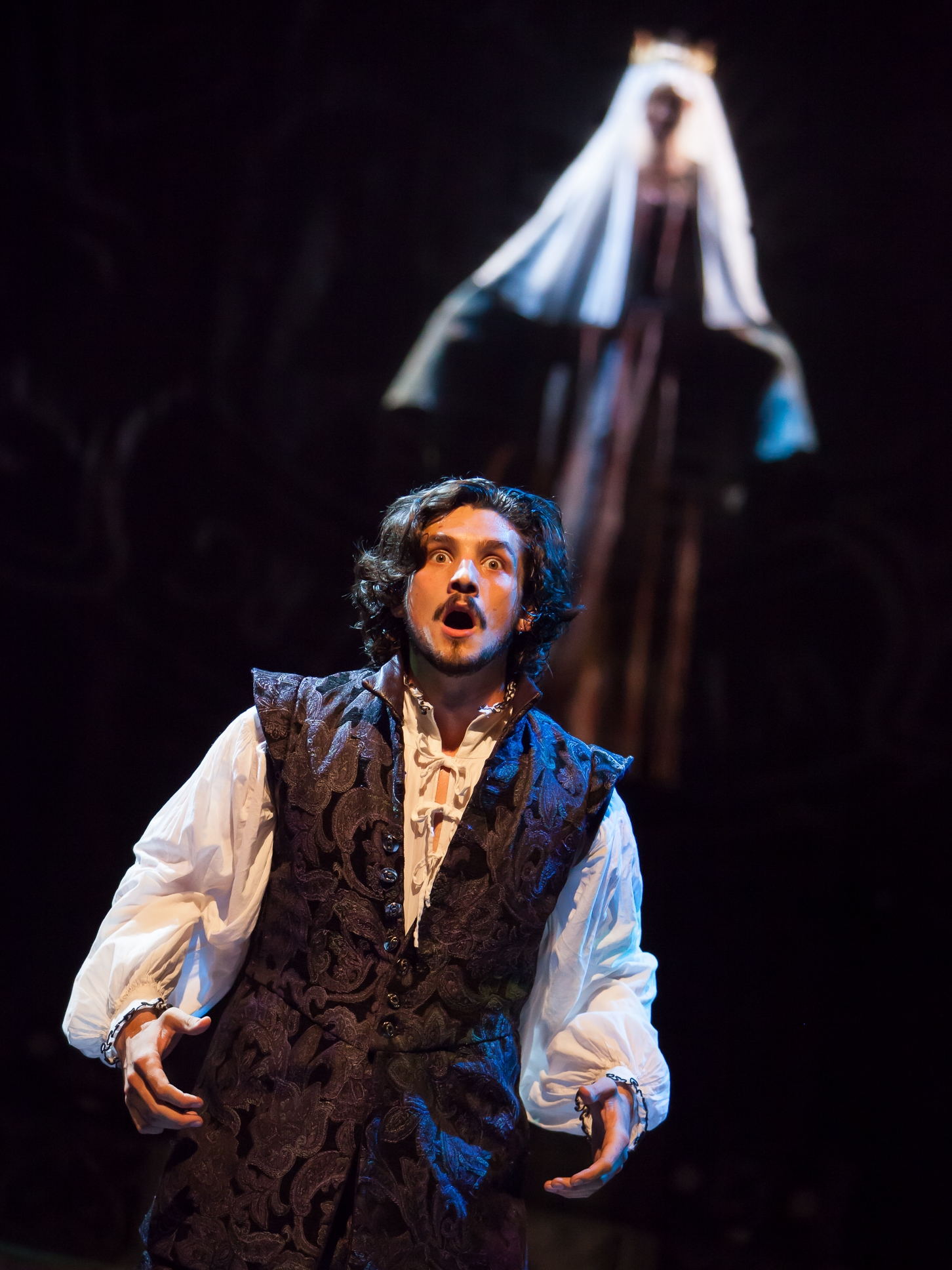 Benjamin Bonenfant in WITTENBURG at the Colorado Shakespeare Festival, photo by Jennifer Koskinen, Merritt Design Photo